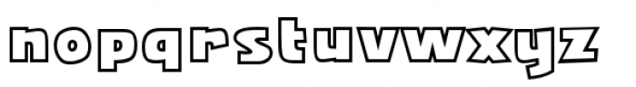 Squarejaw Intl BB Outline Font LOWERCASE