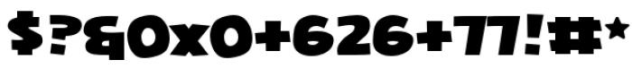 Squarejaw Intl BB Regular Font OTHER CHARS