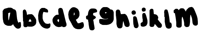 SQUISHED + FAT Font LOWERCASE
