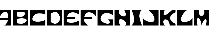 Square circle Font UPPERCASE