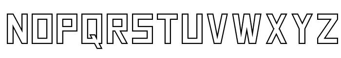 SquareFont Outline Font LOWERCASE