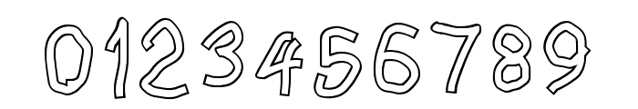 Squared Hand Outline Font OTHER CHARS