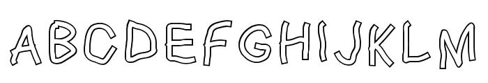 Squared Hand Outline Font UPPERCASE