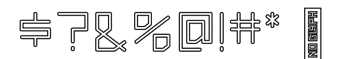 Squaredee-Outline Font OTHER CHARS