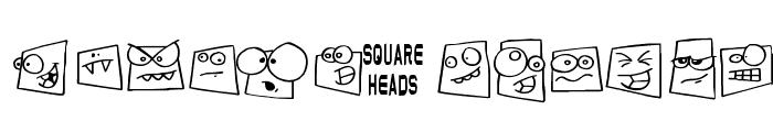 Squareheads Font UPPERCASE