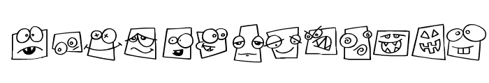 Squareheads Font LOWERCASE