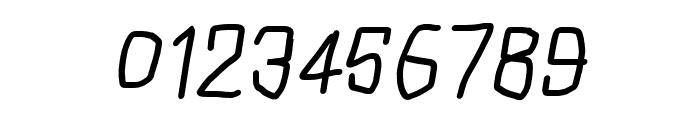 Squarish Italic Font OTHER CHARS