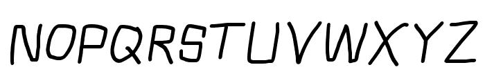 Squarish Italic Font UPPERCASE
