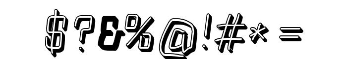 Squarish Shadow Italic Font OTHER CHARS