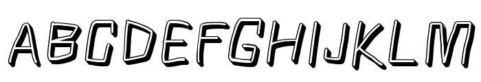 Squarish Shadow Italic Font UPPERCASE