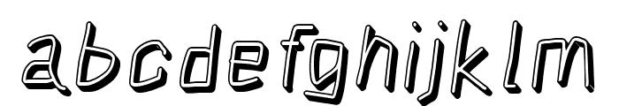 Squarish Shadow Italic Font LOWERCASE