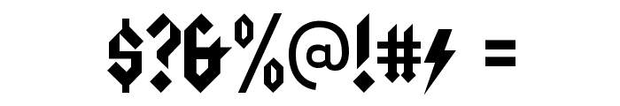 Squealer-Regular Font OTHER CHARS