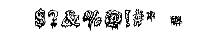 Squelettics Medium Font OTHER CHARS