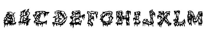 Squelettics Medium Font UPPERCASE