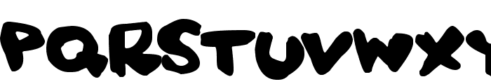 Squidgy Font UPPERCASE
