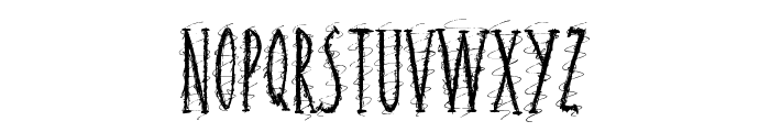 Squiggley Brown Font UPPERCASE
