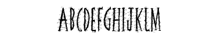 Squiggley Brown Font LOWERCASE