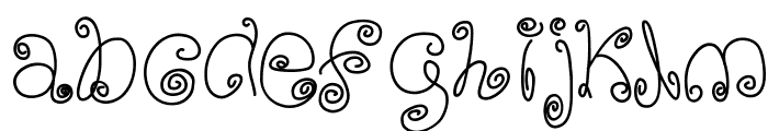 SquigglyLittleWiggly Font LOWERCASE