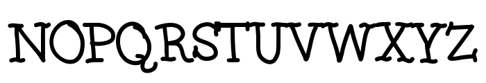 Squishy Font UPPERCASE