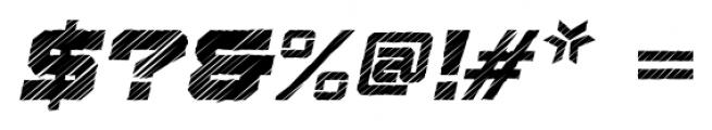 Squartiqa 4F Strike Italic Font OTHER CHARS
