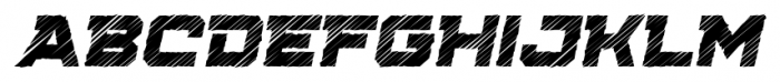Squartiqa 4F Strike Italic Font UPPERCASE