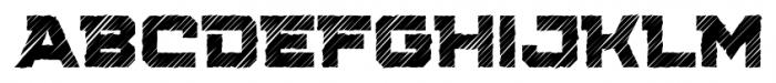 Squartiqa 4F Strike Font UPPERCASE