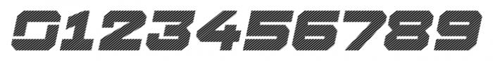 Squartiqa 4F Stripes Italic Font OTHER CHARS