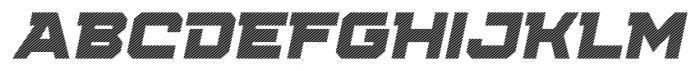 Squartiqa 4F Stripes Italic Font UPPERCASE