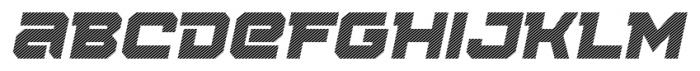 Squartiqa 4F Stripes Italic Font LOWERCASE