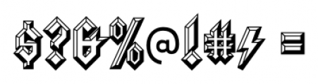 Squealer  Embossed Font OTHER CHARS