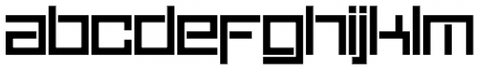 Sqair Stencil Font LOWERCASE