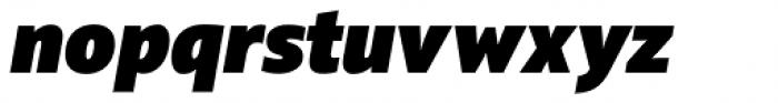 Squad Black Italic Font LOWERCASE
