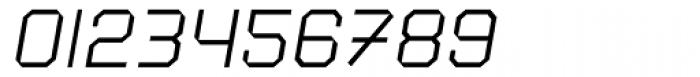 Square 45 Thin Italic Font OTHER CHARS