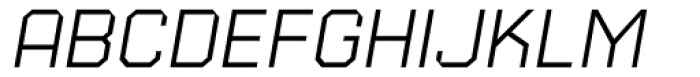 Square 45 Thin Italic Font UPPERCASE