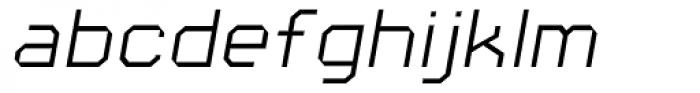 Square 45 Thin Italic Font LOWERCASE