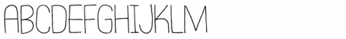Square Aware Font UPPERCASE