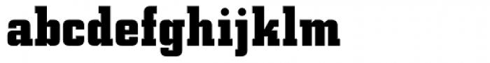 Square Slabserif 711 Bold Font LOWERCASE