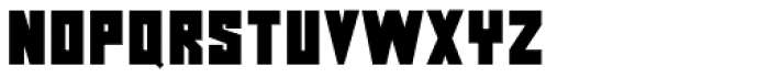 Squarity JNL Font LOWERCASE