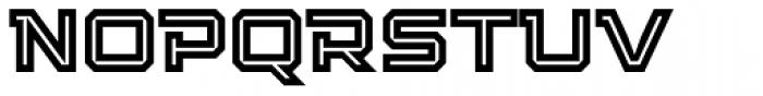 Squartiqa 4F Inline Font LOWERCASE