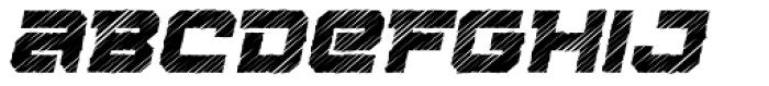 Squartiqa 4F Strike Italic Font LOWERCASE