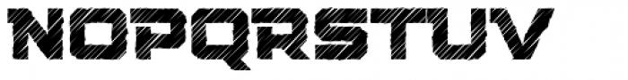 Squartiqa 4F Strike Font LOWERCASE
