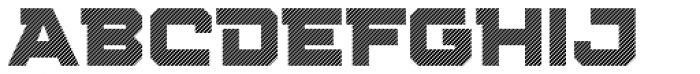 Squartiqa 4F Stripes Font UPPERCASE