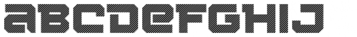 Squartiqa 4F Stripes Font LOWERCASE