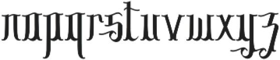 Sribaduga otf (400) Font LOWERCASE
