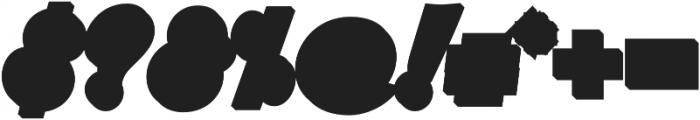 Srikandy Extrude Regular Regular otf (400) Font OTHER CHARS