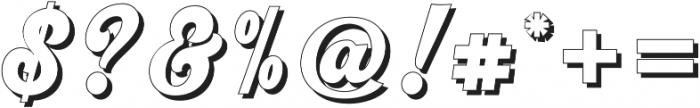 Srikandy Shadow Regular otf (400) Font OTHER CHARS