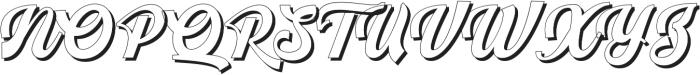 Srikandy Shadow Regular otf (400) Font UPPERCASE