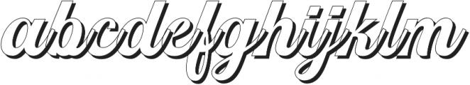 Srikandy Shadow Regular otf (400) Font LOWERCASE