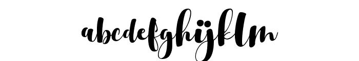 Srikonitta Script Two Font LOWERCASE