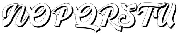 Srikandy Shadow Regular Font UPPERCASE